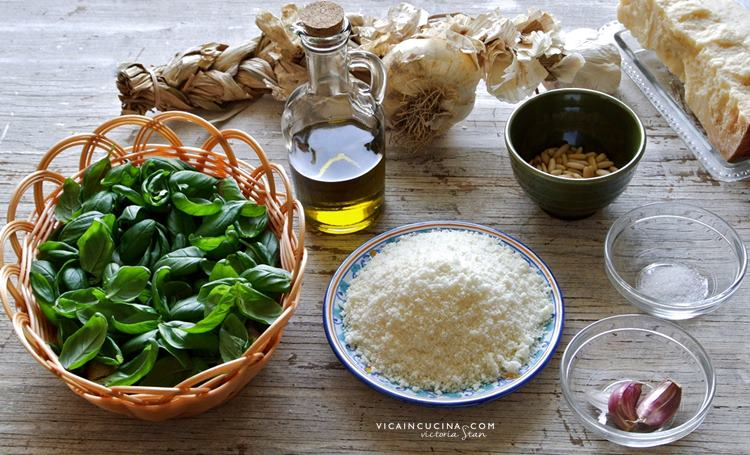 Ingredienti pesto genovese @vicaincucina