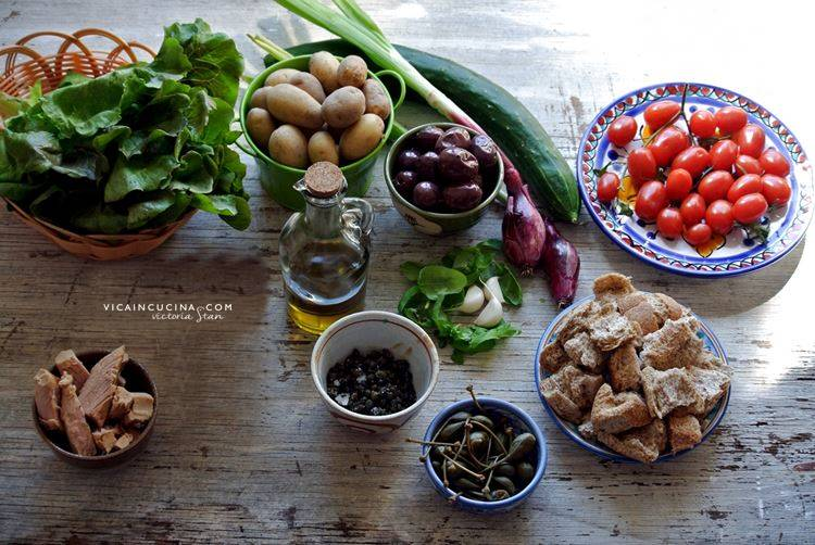 Ingredienti Insalata Eoliana di Lipari @vicaincucina