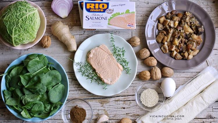 Ingredienti - Ricetta Salmone in crosta @vicaincucina